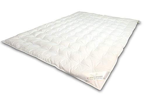 Klosterdorf Bettenmanufaktur Premium Sommerdecke \'\'Typ Eiderdaune\'\' | 155x220 cm | 200 Gramm | Handarbeit aus Deutschland | Für einen gesunden Schlaf