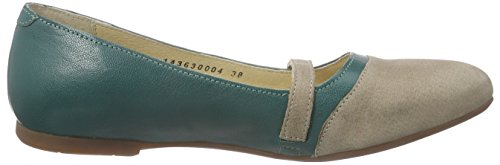 FLY London Mino630fly, Sandales fermées femme Multicolore - Mehrfarbig (TAUPE/NILEGREEN 004)