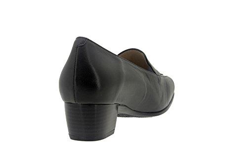 Chaussure femme confort en cuir Piesanto 7112 mocassin comfortables amples Noir