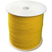 4mm Flechtleine-Polypropylenseil - gelb - 100m - Rolle
