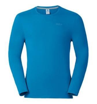 Odlo Herren Long Sleeve Sillian T-Shirt, Herren, Long Sleeve Sillian blue jewel