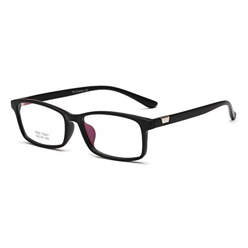 YMTP Optische Brillen Rahmen Männlich Rechteck Brillen Weiblichen Klassischen Brillen Frame Ultralight, Sand Schwarz