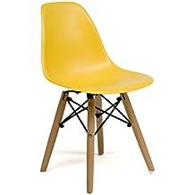 Oui Home - Silla Tower Wood niños amarilla