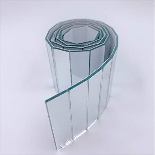 NUORUI espejos rectangulares de vidrio real para proyectos de manualidades de 1/2 x 2 pulgadas