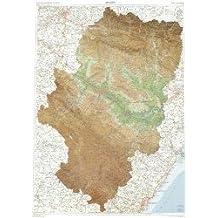 Mapa Relieve Autonómico De Aragón. Escala 1:300000