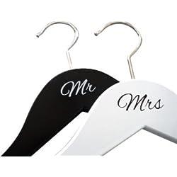 Perchas Boda - Pack de 2 - Mr & Mrs