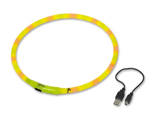 Nobby 78231 Hunde Leuchthalsband Visible, 10 mm; 70 cm Lang, gelb