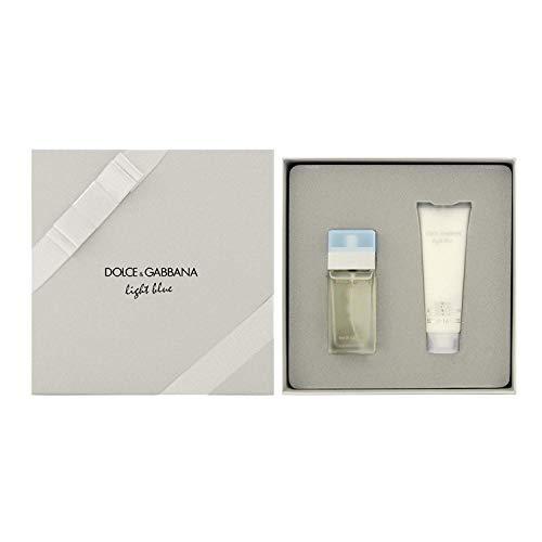 Dolce & Gabbana Light Blue Set femme / woman, Eau de Toilette Vaporisateur / Spray 25 ml, Bodycream 50 ml, 1er Pack (1 x 75 ml)