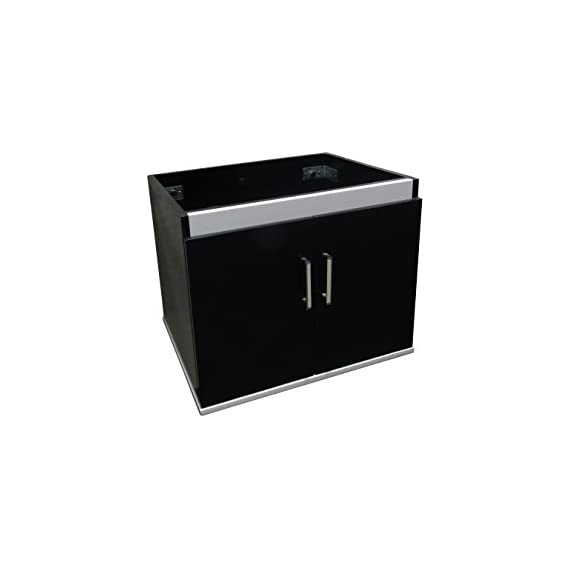 Dawn REC231718-06 Wall Mounted MDF Cabinet with Two Doors and Self Soft Closing Hinges, Matt Black Finish