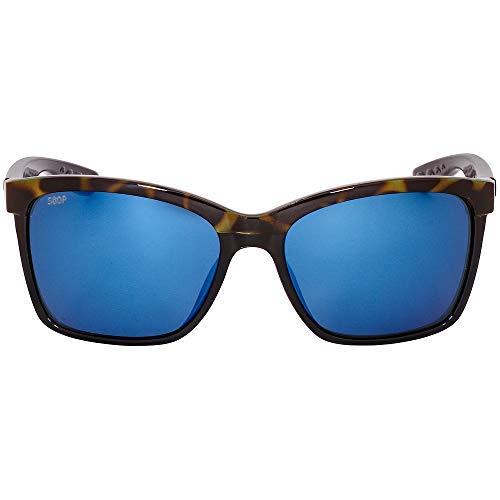Costa Del Mar Anaa Sunglasses Shiny Olive Tort on Black/Blue Mirror ANA109OBMP