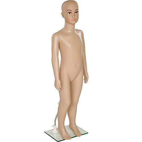 TecTake Mannequin de vitrine Mannequin démontable | Pivotable et mobile | Pied en verre avec attaches pour les mollets - diverses modèles (Enfant | no. 402664)