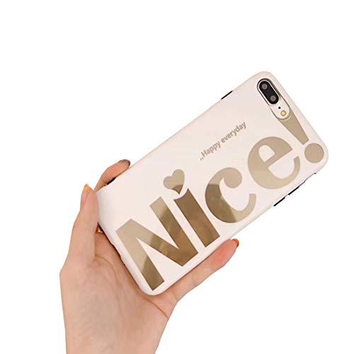 Bakicey iPhone XS Hülle, iPhone X Handyhülle Weich Silikon Mode Chic Schutzhülle Bumper Cover Kratzfeste Stoßfest Ultra dünn Hülle case für Apple iPhone XS/X (Nice) - Nice Taste