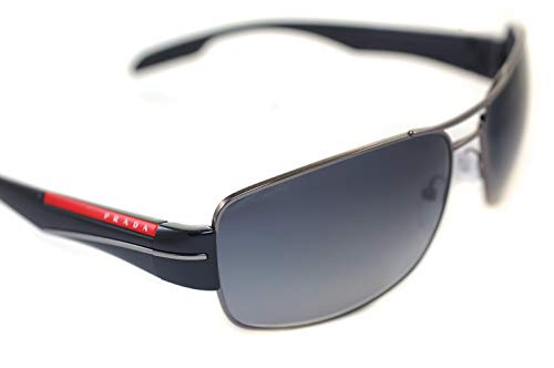 Prada Sport Metal-Square Sonnenbrillen in schwarz grau Gradient PS 53NS 5AV5W1 65 65 Gradient Grey