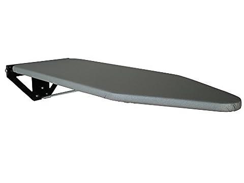 Compact Wall Mounted Ironing Board - Black Wall Fixing Plate