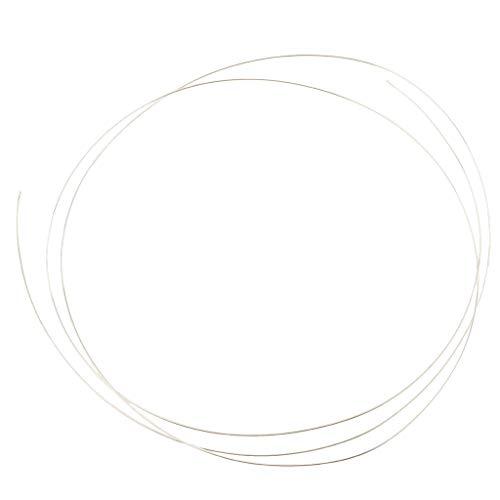 Sharplace 1m Alambre Plata Ley 925 Maciza Cable Redondo