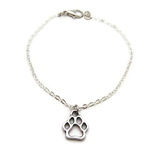 ZWMM Frauen Armband Europa Und Den Vereinigten Staaten Katze Klaue Hund Klauen Einstellbare Gold- Und Silberabdrücke Schmuck 3