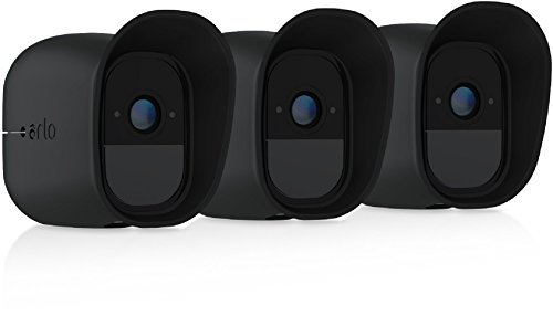 Arlo Accesorio oficial - Kit de 3 Fundas de Silicona para cámaras Arlo Accesorio oficial Pro (Resistentes a los Rayos UV y al Agua), Color Negro, VMA4200B