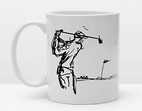 Sportler Tasse | Golfer | Kaffeetasse für Golfer | Golftasse | Golfgeschenk | Golfsport | Abschlag | Golfzeichnung | Golfspieler | Golfclub -