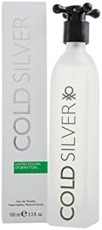 United Colors of Benetton Cold Silver Men Eau De Toilette, 3.3 Ounce