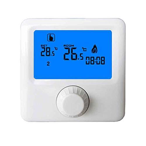 Zerama LCD-Display-Wandgasheizkessel Thermostat Wöchentlicher programmierbarer Raum-Heizungs-Thermostat Digital-Temperaturregler -
