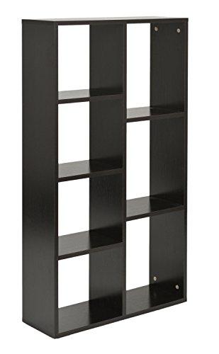 ts-ideen Étagère Design Espace de stockage Bibliothèque Bois CD noir 110 x 60 cm