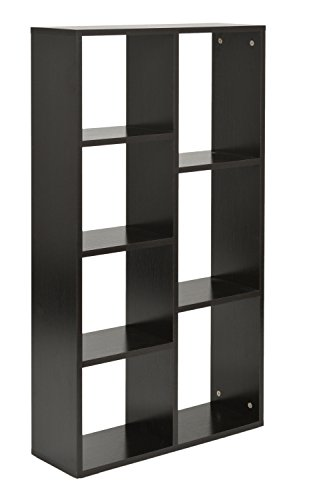 ts-ideen Design Regal Hochregal Standregal Aufbewahrung Bücherregal CD-Regal Ablage Holz schwarz...