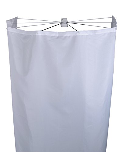 *Ridder 58301-350 Duschspinne, Duschfaltkabine, Ombrella mit Textilduschvorhang, weiß*