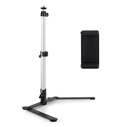 UTEBIT Copy Stand with 180° Kugelgelenk Stativkopf Holder Camera Stand mit Standard 1/4'' Screw Aluminium Kopierstand for Camera Photo Shooting