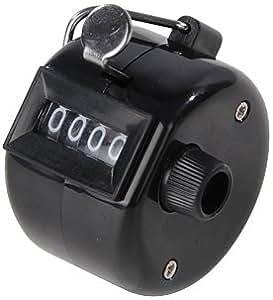 Silverline 100112 Mechanischer Einhand-Zähler, 4 Ziffern