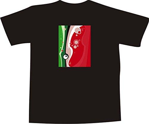 T-Shirt F1162 Schönes T-Shirt mit farbigem Brustaufdruck - Blase Farbe Mehrfarbig