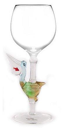Mundgeblasene Pelican Wein Glas aus yurana Designs–W114