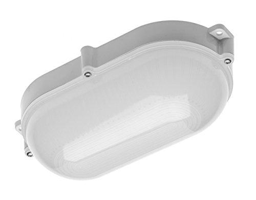 LED 10W Feuchtraumleuchte Kellerleuchte Aussen Leuchte Lampe IP 65 Keller Oval Werkstatt