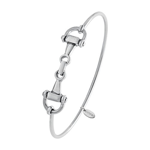 snaffle-bit-easy-hook-clasp-charm-bracelet-bangle-jewelry-perfect-gift-antique-silver
