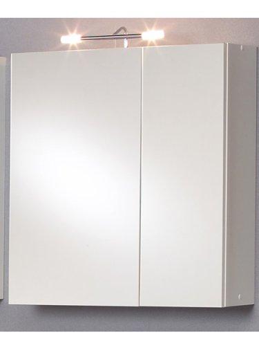 #Dreams4Home Spiegelschrank Nela Wandspiegel Spiegel 2-türig inkl 2x 20W Stableuchte Badspiegel Badezimmer#
