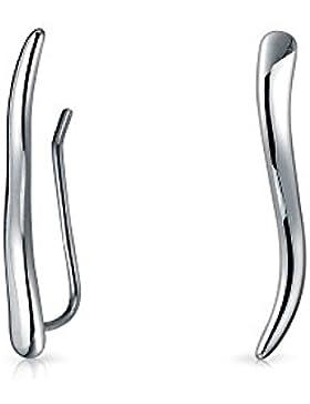 Bling Jewelry Sterling Silber 925 moderne Wave Ohrstecker Ohrringe