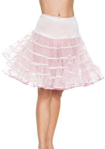 Leg Avenue Mid Länge Petticoat, schwarz, neon grün, Neon Pink, pink, violett, rot oder weiß Leg Avenue Coat