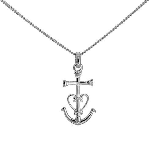 Collier en argent massif pendentif petite croix de camargue de provence et chaine en 50cm dans sa boite en argent massif 925
