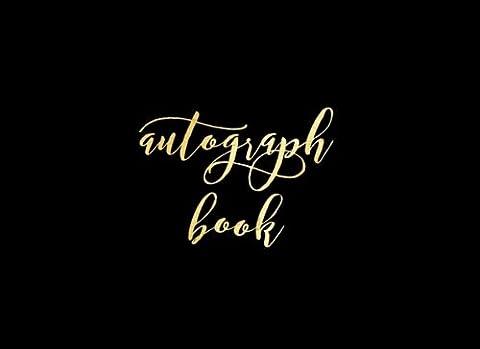 Autograph Book: Black Matte Blank Unlined Keepsake, Memory Book, Scrapbook