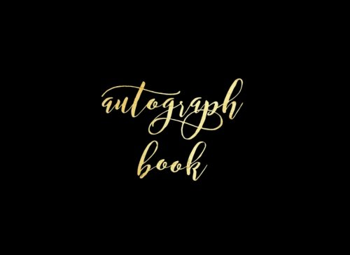 Disney World Scrapbooking (Autograph Book: Black Matte Blank Unlined Keepsake, Memory Book, Scrapbook For All Your Favorite Sports Stars, Disney Cartoon Characters. Memorabilia Album Gift   8.25