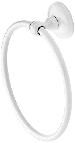 SANIPLAST Fly Handtuchhalter Ring A Wand, Metall, Weiß, 18x 16x 5cm (Weiss Metall Handtuchhalter)