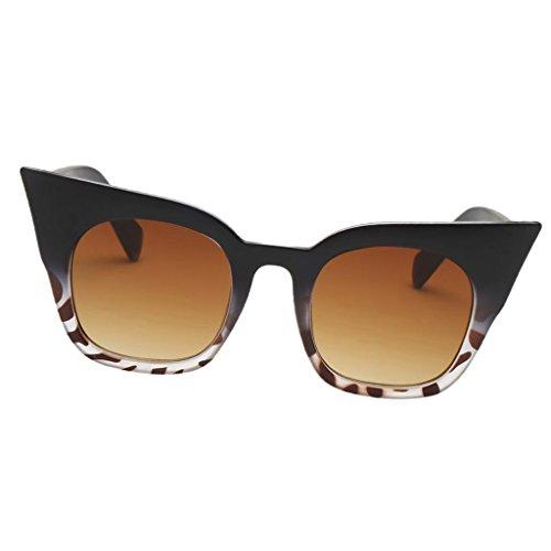 Baoblaze Retro Damen Sonnenbrille Herren Sonnenbrille Fahrerbrille 100% UV400 Schutz für Autofahren Reisen Golf und Freizeit - Schwarzer Leopard Frame Gradient Tea Lens, wie beschrieben