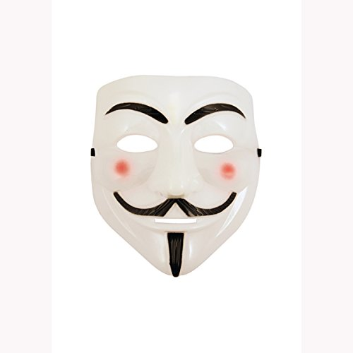 V für Vendetta Maske Anonymous Halloween Guy Fawkes Fancy Dress Up Erwachsene ()