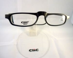 Reading Glasses Clic Base Matt Black Magnetic Connection Readers-Strength +2.50