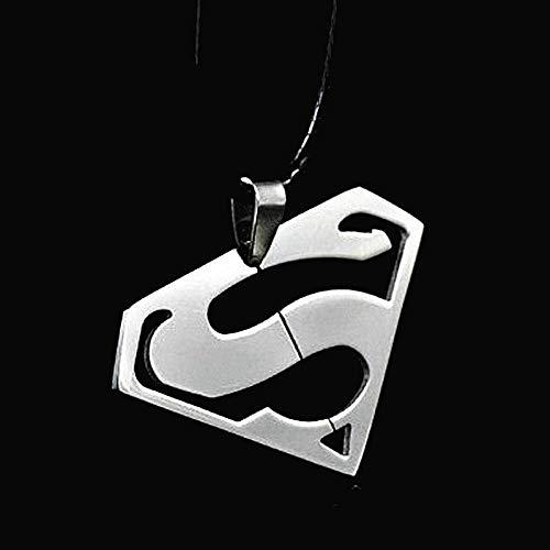 Lwhrksjc collana in acciaio supereroi con pendenti serie superman transformers prepotente collana in acciaio inossidabile di grado superiore