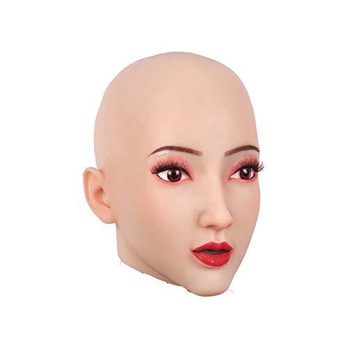 Kostüm Männlich Asian - MSFLY Weiche silikon Maske weibliche atmungsaktive Gesicht Abdeckung für cd td tg dragqueen Cosplay kostüme Party Halloween Maske,Asian