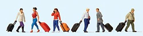 Preiser 10640 Gehende Reisende mit Trolleys