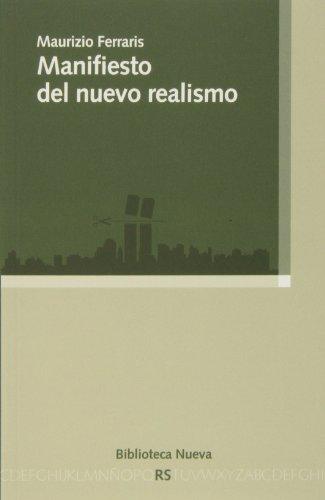 Manifiesto del nuevo realismo (RAZON Y SOCIEDAD)
