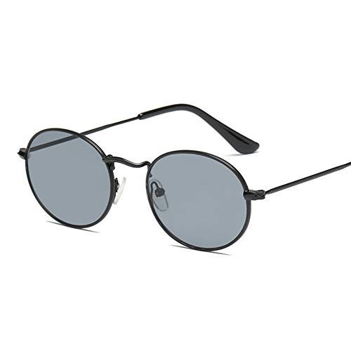 GJYANJING Sonnenbrille Sonnenbrille Rahmen Sonnenbrille Bunte Sonnenbrille Masque Sonnenbrille Reflektierendes Glas Vintage Metall Oval Klein
