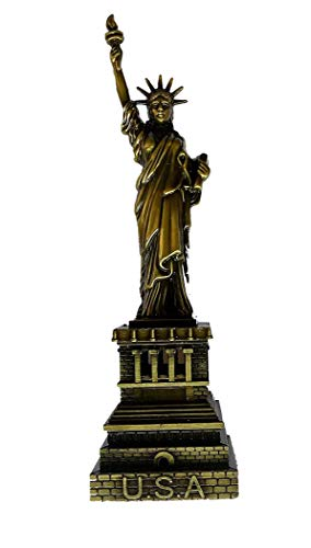 Makan Metal Statue of Liberty Miniature showpiece/Handcrafted and Hand Carving Done On This is Fine and Unique Sculpture Idol/Idols Statue/Statues Idol Statue