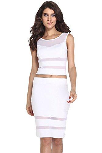 E-Girl Deman Weiß SY21217-1 cocktail kleid Weiß